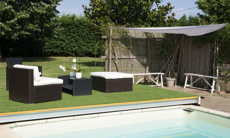 Terrasse mobile DIBLUE sur piscine