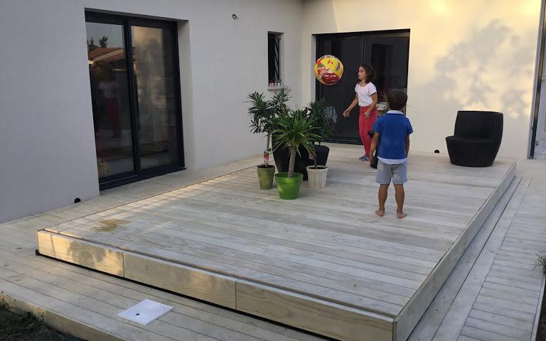 Terrasse mobile sans vis apparentes