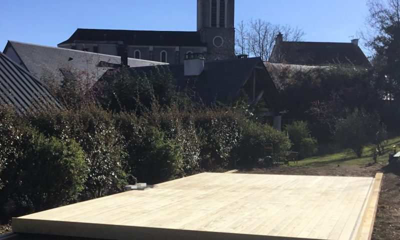 Terrasse piscine mobile DIBLUE