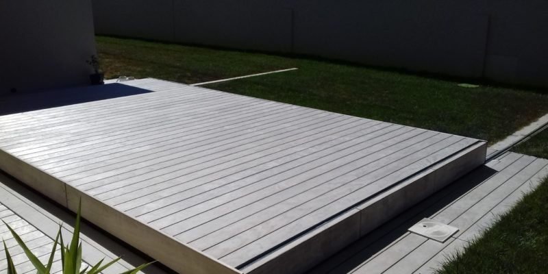 Terrasse mobile ,lames bois Accoya, Grad concept et Joints Ponts de Bateaux pour optimisation de l'étanchéité.