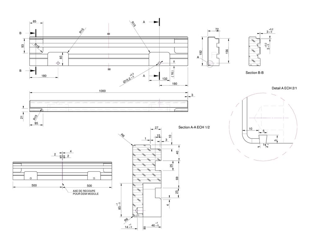 les plans de la terrasse